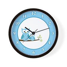 Unique Blue owl Wall Clock
