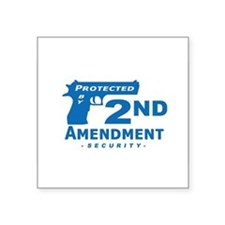 2nd Second Amendment Security Oval Sticker