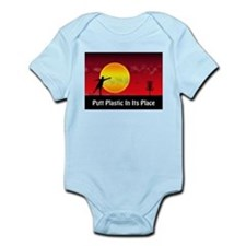Putt Plastic In Its Place Infant Bodysuit