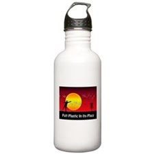 Putt Plastic In Its Place Water Bottle