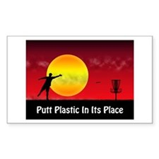 Putt Plastic In Its Place Decal