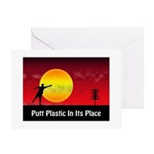 Putt Plastic In Its Place Greeting Card