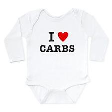 I Love Carbs Funny Diet Long Sleeve Infant Bodysui