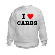I Love Carbs Funny Diet Sweatshirt
