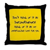 Incontinence Throw Pillow
