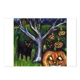 Black cats pumpkin Postcards (Package of 8)