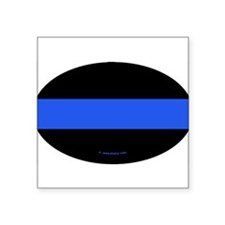 Thin Blue Line Policeman Oval Sticker