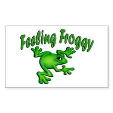 Feeling Froggy Rectangle Decal