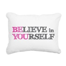 Unique Positive Rectangular Canvas Pillow