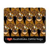 I Love Australian Cattle Dogs Mousepad