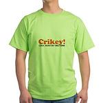 Crikey Crocodile Hunter Green T-Shirt