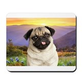 Pug Meadow Mousepad