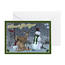 Animal Seasons Greetings Greeting Card