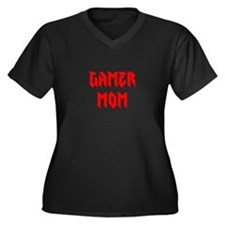Gamer Mom Women's Plus Size V-Neck Dark T-Shirt