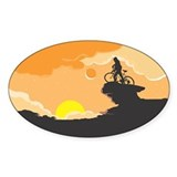 Mountain Biking Sticker - Color (Oval)