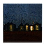 Grain Bins Art Tile Coaster