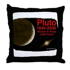 Revolve In Peace Pluto Throw Pillow