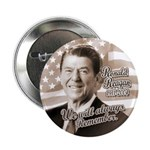 Ronald Reagan Tribute Button