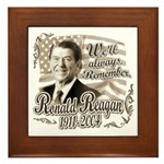 Ronald Reagan Tribute Framed Tile