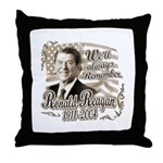 Ronald Reagan Tribute Throw Pillow