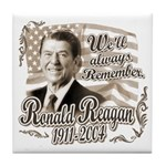 Ronald Reagan Tribute Tile Coaster