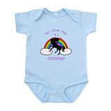 Unicorn rainbow onesie Bodysuits