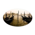 Gondola Venice Italy 35x21 Oval Wall Decal
