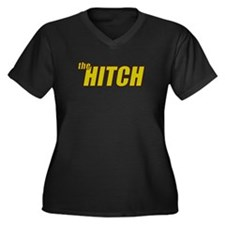 the HITCH Women's Plus Size V-Neck Dark T-Shirt