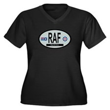 RAF Modern 01 Women's Plus Size V-Neck Dark T-Shir