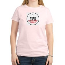 1 Year Clean & Sober Women's Light T-Shirt