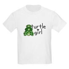 turtle girl Kids T-Shirt