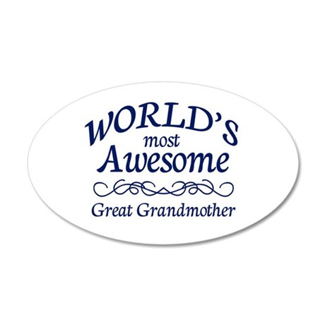 Great Grandmother 20x12 Oval Wall Decal