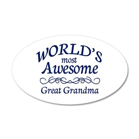 Great Grandma 20x12 Oval Wall Decal