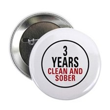 "3 Years Clean & Sober 2.25"" Button"