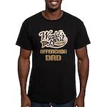 Affenchon Dog Dad Men's Fitted T-Shirt (dark)