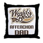 Affenchon Dog Dad Throw Pillow