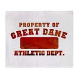 Property of Great Dane Throw Blanket