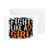 Fight Like a Girl 31.8 RSD Greeting Card