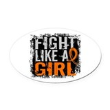 Fight Like a Girl 31.8 RSD Oval Car Magnet