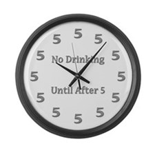 Funny Drinking Large Wall Clock