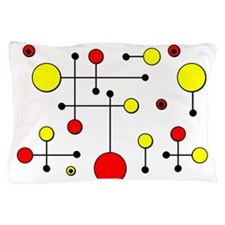 Red & Yellow Dot Dash Pillow Case