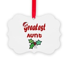 Cute 1 aunt Ornament
