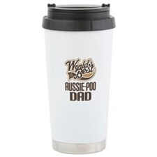 Aussie-Poo Dog Dad Ceramic Travel Mug