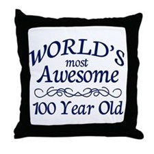 Awesome 100 Year Old Throw Pillow