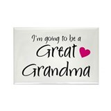 I'm going to be a Great Grandma! Rectangle Magnet