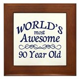 Awesome 90 Year Old Framed Tile