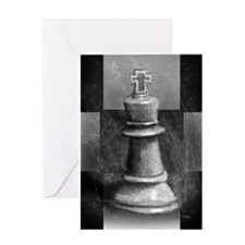 Chess King Greeting Card