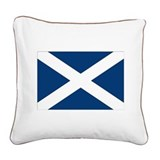 Cute Scottish flag Square Canvas Pillow