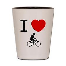 Bicycle Rider Shot Glass