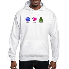 Peace, Love and turtles Jumper Hoody
